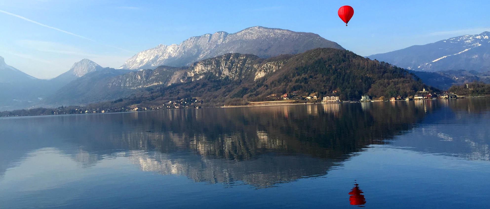montgolfiere lac annecy haute savoie
