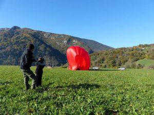 préparation montgolfiere